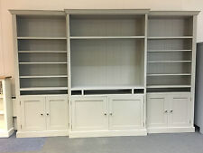 PAINTED SOLID WOOD BOOKCASE BREAK FRONTED DISPLAY UNIT. CAN BE ANY SIZE/COLOUR!