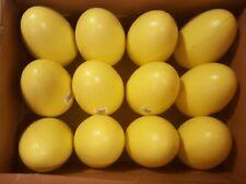 "12 Vtg 8"" Easter Egg Blow Mold Yard Decor Yellow Eggs Old Stock General Foam"