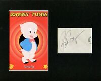 Bob Bergen Voice Of Porky Pig Looney Tunes Signed Autograph Photo Display