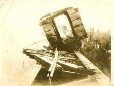 KK835 RP 1936 MEXICO RAILROAD WRECK BLOWN UP PASO DEL MACHO REBEL GENERAL CALLES