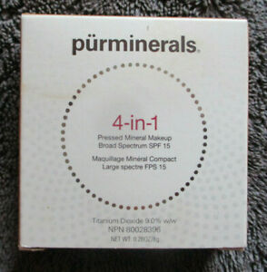 PUR 4-IN-1 PRESSED MINERAL MAKEUP FOUNDATION SPF 15 MEDIUM DARK 8G NEW & BOXED