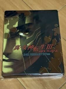 Shin Megami Tensei III NOCTURNE HD REMASTER Steelbook Steel Book Only Japan NEW
