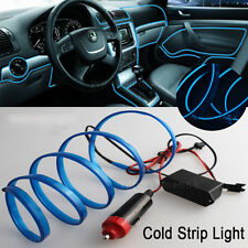 2M Blue Interior Trim Door Panel Decor Atmosphere Cold Strip EL Light  for Ford