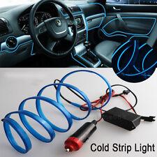2M Blue Interior Trim Panel Decor Atmosphere Cold Strip EL Light For Land Rover
