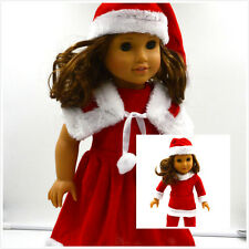 2017 cool Christmas clothes dress for 18inch American girl doll children gift b5