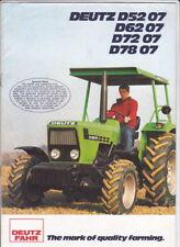 1981 DEUTZ FAHR 07 Tractor Range 12p Australian Market Brochure