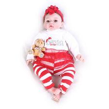 """Windboy 22"""" Reborn Baby Lifelike Girl Dolls Little Helper Stuffed Body Kids Toys"""