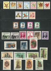 Nicaragua: Lot of 4 complete sets mint Nh. NI07/