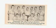 Frackville Vfw Pennsylvania 1953 Baseball Team Picture