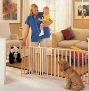 Extra Wide Swing Dog Pet Baby Child Gate over 8+ ft. Wide Safety Durable Home