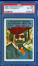 TOPPS 1967 67 WHO AM I? UNSCRATCHED PSA #34 TEDDY ROOSEVELT