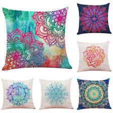 Cojines Colorful Bohemian Style Flower Mandala Cushion Cover Throw Pillow Case
