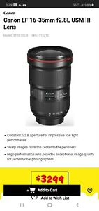 Canon EF 16-35mm f2.8L USM III Lens