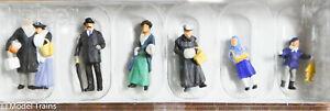 Preiser HO #12195 (1900s) People At Christmas Fair (Painted Figures) 1:87thScale