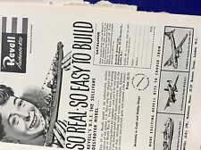 m9-2 ephemera 1955 advert revell authentic kits boats