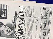 m9-2 ephemera 1955 advert revell authentic kits boats