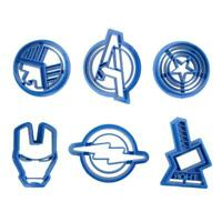 6pcs Super Hero Plastic Cupcake Mold Fondant Cookie Cutter Cake Decorating  BEST