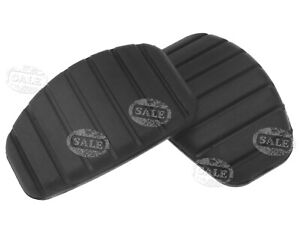 2 x Black Brake Pedal Pad Rubber Cover For Renault Clio Kangoo 7700416724