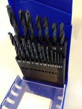 HELLER qualité allemande drill bit set de 19pc HSS-R DIN 338 RN 1 à 10mm NOUVEAU