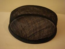 Black Larger Pillbox Hat Base for Dance Costumes