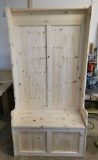 NEW HANDMADE SOLID PINE 3FT MONKS BENCH COAT RACK DELIVERY AVAILABLE