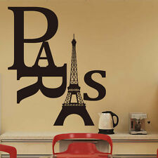new diy Eiffel tower Paris Wall Sticker Sitting Living Bed Room art Decoration