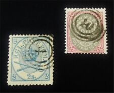 nystamps Denmark Stamp # 11,31 Used $68 F19y1406