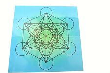 Metatrons Cube Laminated Grid 8x8inch Akashic Records Spirit Board Sacred Stones