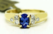 AAA Red Flashes TANZANITE 0.68 Cts  & DIAMONDS RING 14K GOLD * FREE APPRAISAL