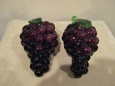 Vintage Glass Purple Grapes Table Decor, Fruit Kitchen (2)