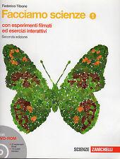 LIBRO SCOLASTICO medie-FACCIAMO SCIENZE 1- 2a Ed+DVD ROM Esperimenti Interattivo