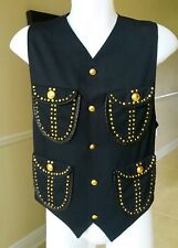 GIANNI VERSACE wool leather & studded men's vest size IT 48, Bondage collection