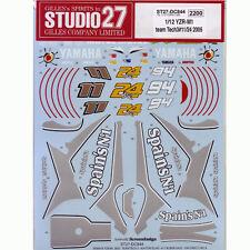 Studio27 DC844 1:12 YAMAHA YZR-M1Tech3 #11:24/94 2005 Decals