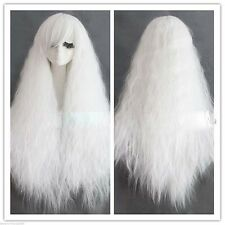 glamour white corn wave wig long hair costume cosplay fluffy harajuku wig