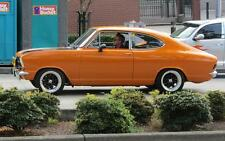 Old Photo.  Orange Opel Kadett Automobile