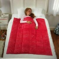 NEW! Kids Sleep Therapy Weighted Blanket- Pink- 4.5 Pounds- 36 in X 48 in
