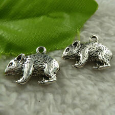 free ship 120 pieces tibet silver bear charms 20x15mm #4355