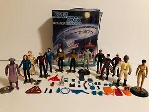 Star Trek Next Generation Action Figures Lot of 13 w/Case(1994-1995 Playmates)