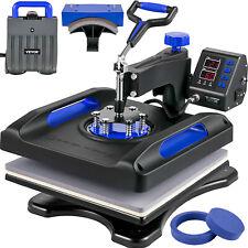 Vevor Heat Press Machine Sublimation Machine 15 X 15 Inch Blue 5 In 1 Heat Press