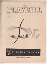 "Montgomery Clift   ""The Sea Gull""   Playbill   1954  Judith Evelyn,  Sam Jaffe"