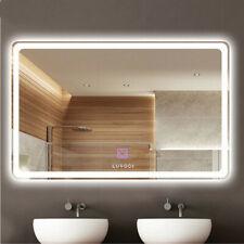 LED Wall Mounted Backlit Mirror Bathroom Vanity Makeup Mirror Dimmable &Anti Fog