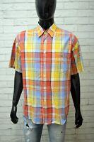 LACOSTE Uomo Camicia Manica Corta Camicetta Taglia 2XL Maglia Shirt Man Hemd