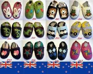 NEW SOFT GENUINE LEATHER BABY BOY & GIRL SHOES 0-6, 6-12, 12-18, 18-24 MTHS