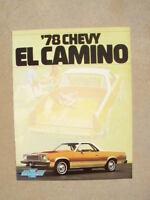 1978 CHEVROLET EL CAMINO DEALER SALES BROCHURE