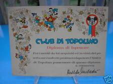 CLUB POR MICKEY DIPLOMA DE VERIFICADOR ANNI 60' PERFECTO