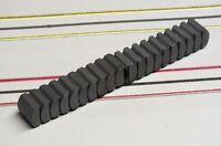 Wizzard HO Slot Car Parts - Storm Ceramic Motor Magnet Lot of 10 Pairs - New