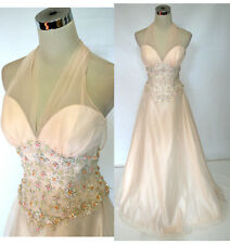 NWT ALYCE DESIGNS $490 VANILLA Evening Pageant Gown 8
