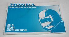 Conductor-manual, owner's manual, Honda CBR 600 f 2