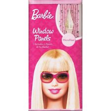 """Barbie Microfiber Window Panels & Tie-Backs Pair 42""""W X 63""""L New !"""
