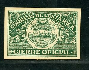 COSTA RICA OFFICIAL SEAL MINT LIGHTLY HINGED AS SHOWN
